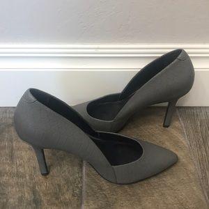 Aldo grey leather heels size 8.5
